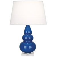 Robert Abbey A298X Small Triple Gourd 24 inch 150 watt Marine Blue Accent Lamp Portable Light in Lucite