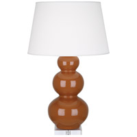 Robert Abbey A365X Triple Gourd 33 inch 150 watt Cinnamon Table Lamp Portable Light in Lucite