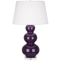 Robert Abbey A383X Triple Gourd 33 inch 150 watt Amethyst Table Lamp Portable Light in Lucite