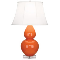 Robert Abbey A675 Double Gourd 30 inch 150 watt Pumpkin Table Lamp Portable Light in Lucite Ivory Silk