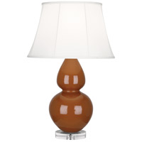 Robert Abbey A759 Double Gourd 30 inch 150 watt Cinnamon Table Lamp Portable Light in Lucite Ivory Silk