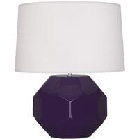 Robert Abbey AM01 Franklin 24 inch 150.00 watt Amethyst Glazed Ceramic Table Lamp Portable Light