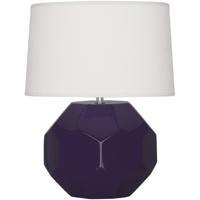 Robert Abbey AM02 Franklin 16 inch 60.00 watt Amethyst Glazed Ceramic Accent Lamp Portable Light