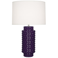 Robert Abbey AM800 Dolly 28 inch 150 watt Amethyst Table Lamp Portable Light