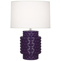 Robert Abbey AM801 Dolly 21 inch 150 watt Amethyst Accent Lamp Portable Light