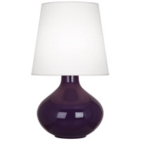 Robert Abbey AM993 June 31 inch 150 watt Amethyst Table Lamp Portable Light in Oyster Linen photo thumbnail