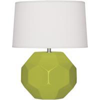 Robert Abbey AP02 Franklin 16 inch 60.00 watt Apple Glazed Ceramic Accent Lamp Portable Light
