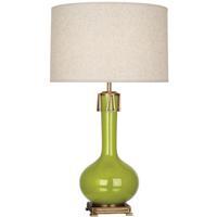 Robert Abbey AP992 Athena 32 inch 150 watt Apple with Aged Brass Table Lamp Portable Light