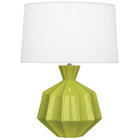 Robert Abbey AP999 Orion 27 inch 150 watt Apple Table Lamp Portable Light, Polished Nickel Accents