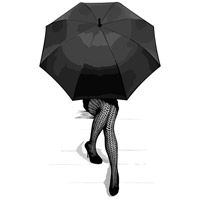 Artwork by Michelle Oxenberg 14 X 11 inch Print in 11 x 14, Parasol