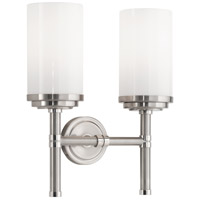 Robert Abbey B1325 Halo 2 Light 11 inch Brushed Nickel with Polished Nickel Wall Sconce Wall Light
