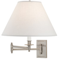 Kinetic Linen Shade 24 inch 150 watt Brushed Chrome Swing Lamp Wall Light in Oyster Linen
