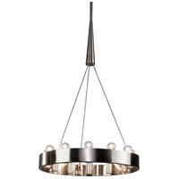 Robert Abbey B2090 Rico Espinet Candelaria 12 Light 24 inch Brushed Nickel Chandelier Ceiling Light