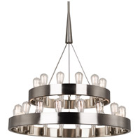 Robert Abbey B2099 Rico Espinet Candelaria 30 Light 35 inch Brushed Nickel Chandelier Ceiling Light
