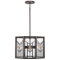 Octavius 4 Light 18 inch Blackened Nickel Pendant Ceiling Light in Blackened Antique Nickel