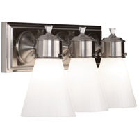 Williamsburg Blaikley 3 Light 20 inch Brushed Nickel Wall Sconce Wall Light