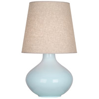 Robert Abbey BB991 June 31 inch 150 watt Baby Blue Table Lamp Portable Light in Buff Linen