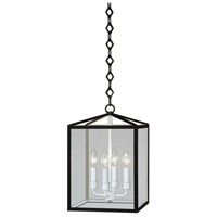Robert Abbey Millbrook 4 Light Pendant in Pc Black BL225