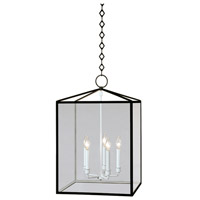 Millbrook 5 Light 16 inch Matte Black Powder Coat w/ Semi-Gloss Pendant Ceiling Light