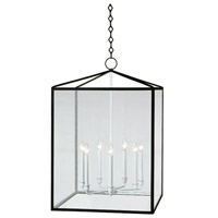 Robert Abbey Millbrook 7 Light Pendant in Matte Black Powder Coat w/ Semi-Gloss BL227
