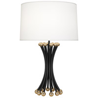 Robert Abbey BL475 Jonathan Adler Biarritz 30 inch 150 watt Blackened Metal with Polished Brass Table Lamp Portable Light
