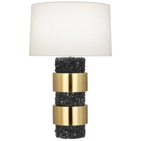 Robert Abbey BL577 Betty 30 inch 150 watt Modern Brass with Polished Black Stone Table Lamp Portable Light