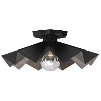 Robert Abbey BLK70 Rico Espinet Bat 1 Light 6 inch Matte Black Painted Flushmount Ceiling Light