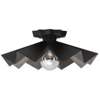 Robert Abbey BLK70 Rico Espinet Bat 1 Light 6 inch Matte Black Painted Flushmount Ceiling Light