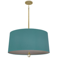 Robert Abbey BN330 Williamsburg Custis 3 Light 15 inch Modern Brass Pendant Ceiling Light