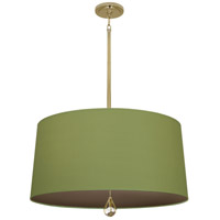 Robert Abbey BN332 Williamsburg Custis 3 Light 15 inch Modern Brass Pendant Ceiling Light