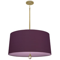 Robert Abbey BN334 Williamsburg Custis 3 Light 15 inch Modern Brass Pendant Ceiling Light