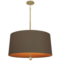 Robert Abbey BN336 Williamsburg Custis 3 Light 15 inch Modern Brass Pendant Ceiling Light