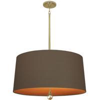 Robert Abbey BN336 Williamsburg Custis 3 Light 15 inch Modern Brass Pendant Ceiling Light