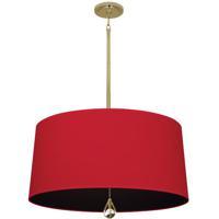 Robert Abbey BN338 Williamsburg Custis 3 Light 15 inch Modern Brass Pendant Ceiling Light