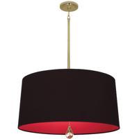 Robert Abbey BN339 Williamsburg Custis 3 Light 15 inch Modern Brass Pendant Ceiling Light