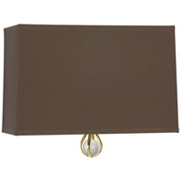 Robert Abbey BN343 Williamsburg Custis 1 Light 11 inch Modern Brass Wall Sconce Wall Light