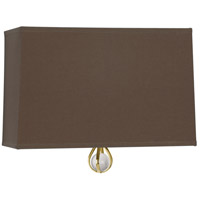 Robert Abbey BN346 Williamsburg Custis 1 Light 11 inch Modern Brass Wall Sconce Wall Light