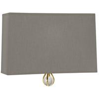 Robert Abbey BN351 Williamsburg Custis 1 Light 11 inch Modern Brass Wall Sconce Wall Light