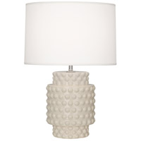 Dolly 21 inch 150 watt Bone Glazed Textured Ceramic Accent Lamp Portable Light