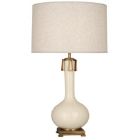 Robert Abbey BN992 Athena 32 inch 150 watt Bone with Aged Brass Table Lamp Portable Light
