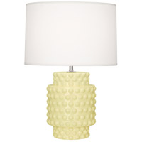 Dolly 21 inch 150 watt Butter Glazed Textured Ceramic Accent Lamp Portable Light