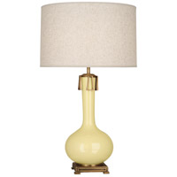 Robert Abbey BT992 Athena 32 inch 150 watt Butter with Aged Brass Table Lamp Portable Light