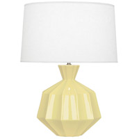 Orion 27 inch 150 watt Butter Table Lamp Portable Light, Polished Nickel Accents