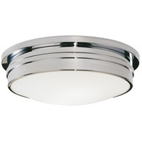 Robert Abbey C1317 Roderick 3 Light 15 inch Polished Chrome Flushmount Ceiling Light
