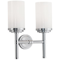Robert Abbey Halo 2 Light Wall Sconce in Brushed C1325