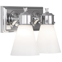 Robert Abbey C341 Williamsburg Blaikley 2 Light 13 inch Polished Chrome Wall Sconce Wall Light