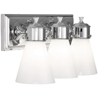 Robert Abbey C342 Williamsburg Blaikley 3 Light 20 inch Polished Chrome Wall Sconce Wall Light