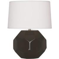 Robert Abbey CF01 Franklin 24 inch 150.00 watt Coffee Glazed Ceramic Table Lamp Portable Light