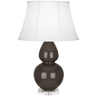 Robert Abbey CF23 Double Gourd 30 inch 150 watt Coffee Table Lamp Portable Light in Lucite, Ivory Silk