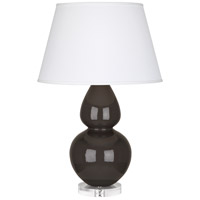 Robert Abbey CF23X Double Gourd 30 inch 150 watt Coffee Table Lamp Portable Light in Lucite, Pearl Dupioni